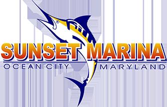 Sunset Marina Logo - iClickFishing.com